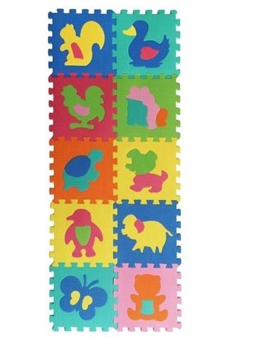Giz Home Hayvanlar Puzzle Oyun Matı Çocuk Odası Anaokulu Halısı Renkli